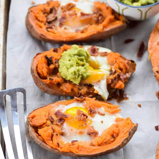Baked Sweet Potatoes With Egg Today Com