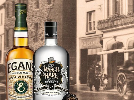 Egan S Irish Whiskey And Mad March Hare Poitin New